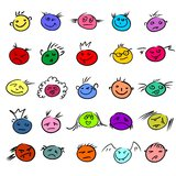 Funny smiles Stock Image