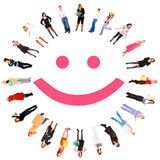 Funny smiley. Isolated on white background Stock Image