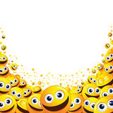 Funny Smiley Background. Ready for Text and Design Royalty Free Stock Photography