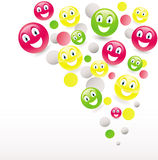 Funny smiley Stock Images