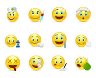 Funny  smileys set to the medical thematics Royalty Free Stock Images
