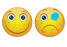Funny smileys Royalty Free Stock Photos