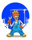Funny smiling builder Royalty Free Stock Image