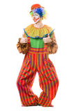Funny smiling clown. Isolated on white background Stock Photo