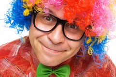 Funny smiling clown Royalty Free Stock Photo