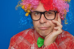 Funny smiling clown Royalty Free Stock Photography