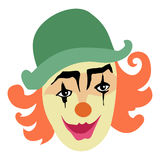 Funny, smiling clown Royalty Free Stock Photos