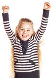Funny smiling little girl Stock Images