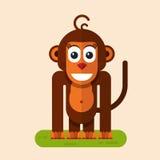Funny smiling monkey Stock Photo