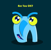 Funny smiling monster Royalty Free Stock Photo