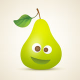 Funny smiling pear Stock Photo