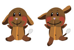 Funny smiling plush brown dog Royalty Free Stock Photo
