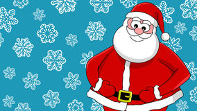 Funny smiling santa Stock Images