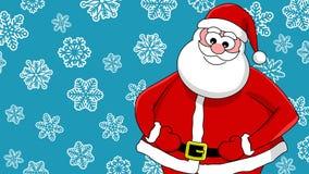 Funny smiling santa Stock Images