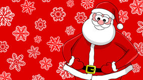 Funny smiling santa Stock Image
