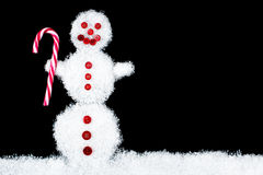 Funny smiling snowman Royalty Free Stock Images
