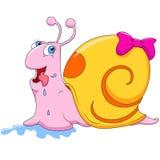 Funny Snail cartoon Stock Photography