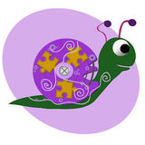 Funny snail character, vector illustration. Eps8 Royalty Free Stock Images