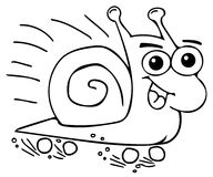 Funny snail coloring pages Stock Photos