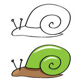 Funny snail. vector Stock Photos