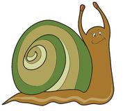 Funny snail, vector Royalty Free Stock Image