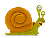 Funny snail Stock Images