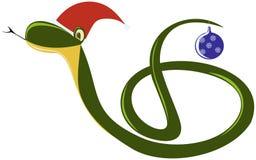 Funny snake. Cartoon snake, symbol of 2013 Royalty Free Stock Photo