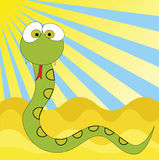 Funny snake cartoon, Stock Image