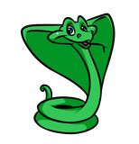 Funny snake cobra cartoon illustration Stock Images