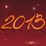 Funny snakes and symbols of 2013 New Year brown ba Royalty Free Stock Photos
