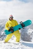Funny snowboarder Stock Photo