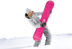 Funny Snowboarder Royalty Free Stock Photos