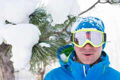 Funny snowboarder Royalty Free Stock Photography