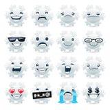 Funny Snowflake Emojis Royalty Free Stock Photo