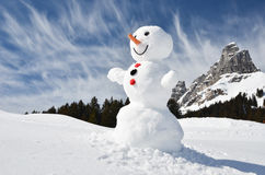 Funny snowman Stock Photos