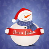 Funny snowman at Christmas Royalty Free Stock Photography