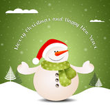 Funny snowman at Christmas Royalty Free Stock Image