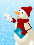Funny snowman Royalty Free Stock Photos