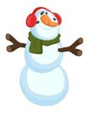 Funny Snowman - Christmas Vector Illustration Stock Photo
