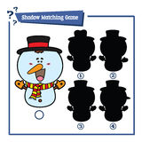 Funny snowman game. Royalty Free Stock Images