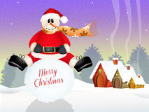 Funny snowman Royalty Free Stock Photos