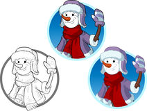 Funny Snowman the New Year character Royalty Free Stock Images