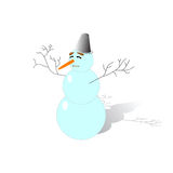Funny snowman Stock Images