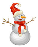 Funny snowman. On a white background Stock Photos
