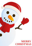 Funny Snowman wishing Merry Christmas Royalty Free Stock Image