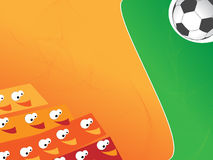 Funny Soccer background stock photos