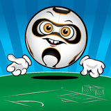 Funny Soccer ball Royalty Free Stock Photo