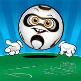 Funny Soccer ball Royalty Free Stock Photo