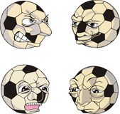 Funny Soccer Balls Royalty Free Stock Images