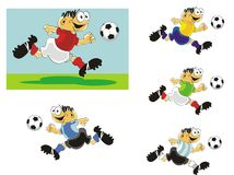 Funny Soccer player in action Stock Images